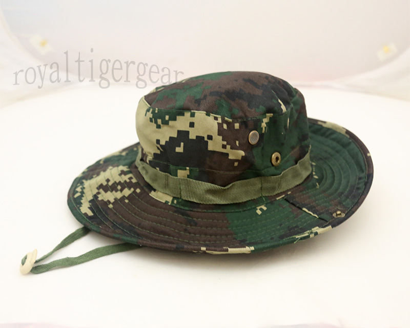 China PLA Type 07 Digital Woodland Second Artillery Force Camo Boonie Hat