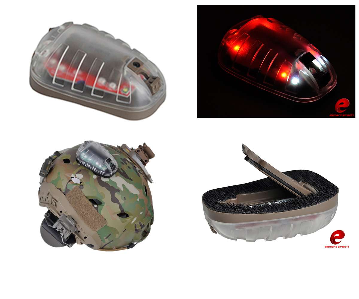 Element HEL-STAR 6 Tactical Flashlight Strobe IR Infrared - EX433 Dark Earth Red Light VIP