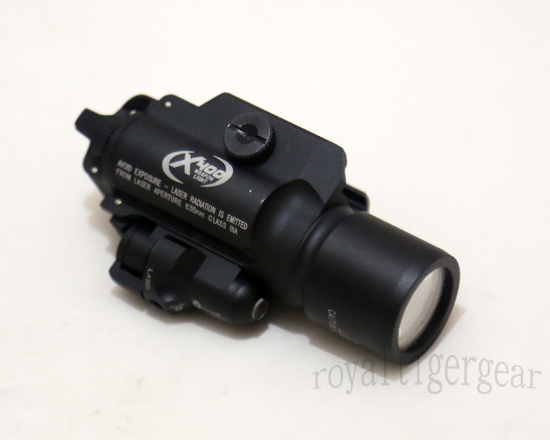 Surefire X400 Ultra Tactical LED Flash Weaponlight Red Laser Rail – Black