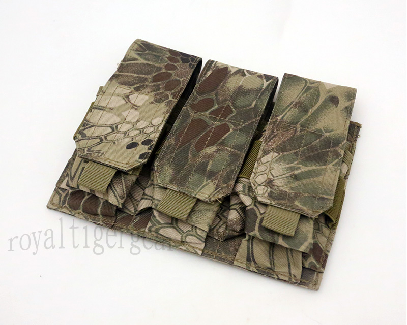 Triple M4 Ammo Mag MOLLE Pouch - Python Snake Camo HLD Highland