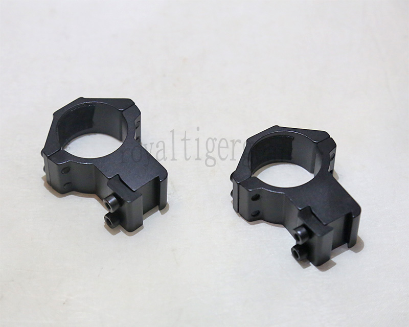 Rifle Scope Mount Rings for Picatinny Rail - Diameter 30mm Height 55mm