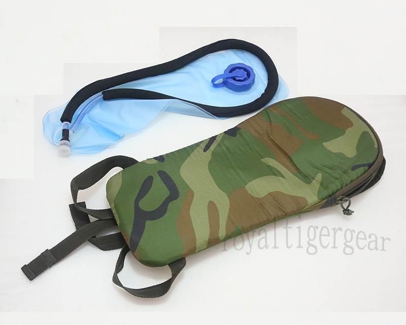 China PLA Type 03 Woodland Camo Hydration Pack w/ 2L Water Bladder