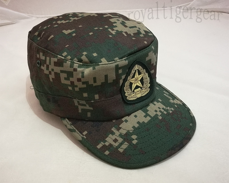 China PLA Type 07 Digital Woodland Second Artillery Force Camo Cap