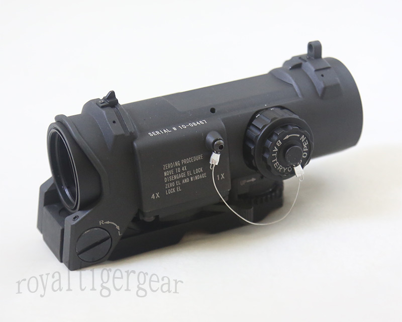 ELCAN SpectorDR style 1X / 4X Scope Red Dot Sight - Black