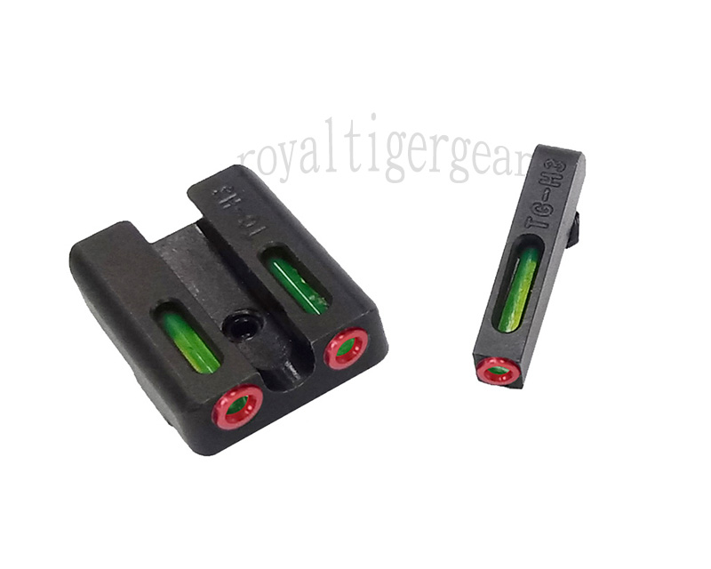 SPINA Fiber Optic Front / Rear Sight for GLOCK - Green