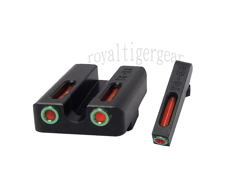 SPINA Fiber Optic Front / Rear Sight for GLOCK - Red