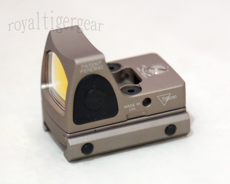 RMR style Red Dot Holographic Weapon Sight w/ 1913 / GLOCK Mount - Dark Earth