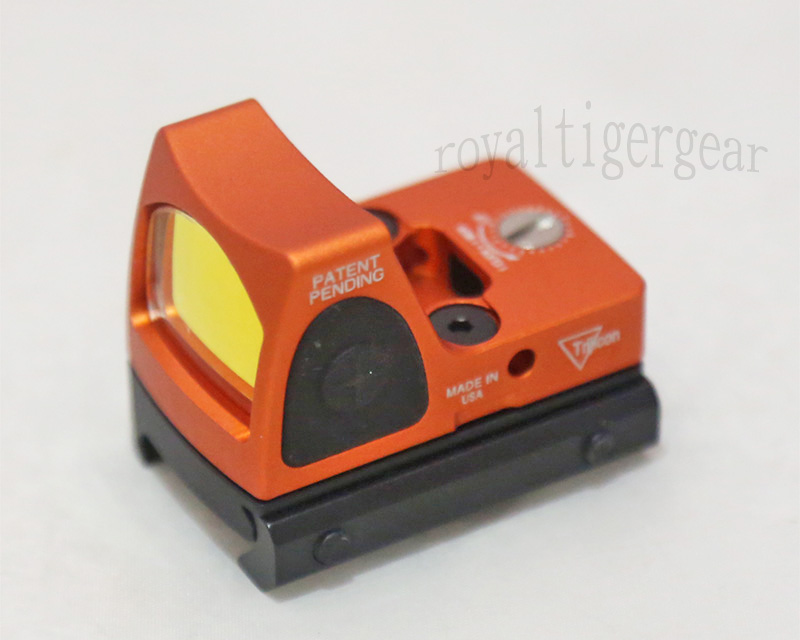 RMR style Red Dot Holographic Weapon Sight w/ 1913 / GLOCK Mount - Orange