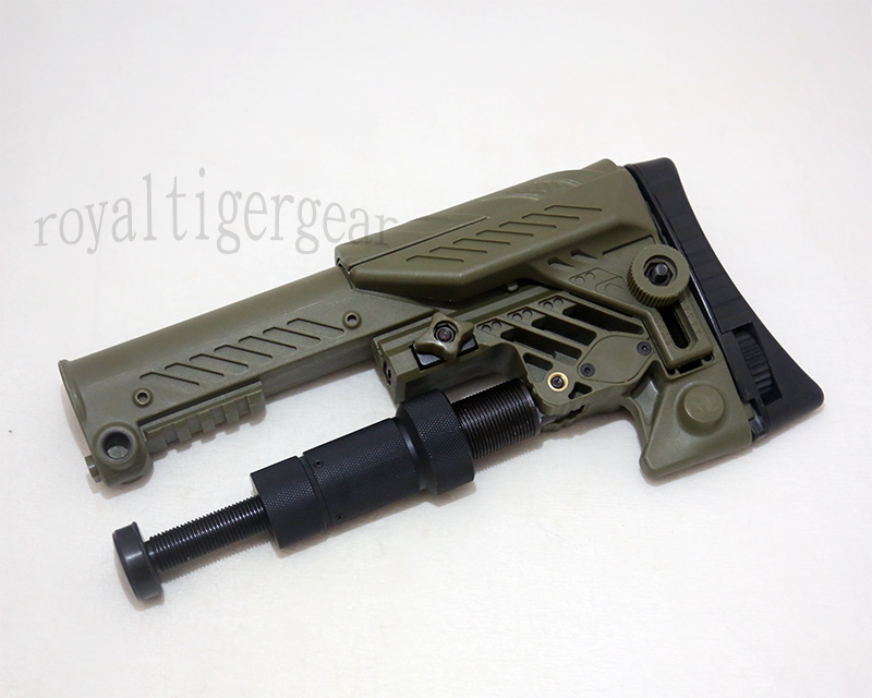 ARS style Multi Purpose Position Sniper Buttstock - Ver.Long - Foliage Green