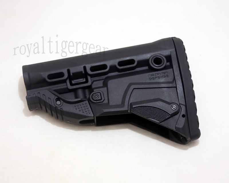 FAB GK-MAG Rifle Buttstock – AK Bulit-in Mag Carrier - Black