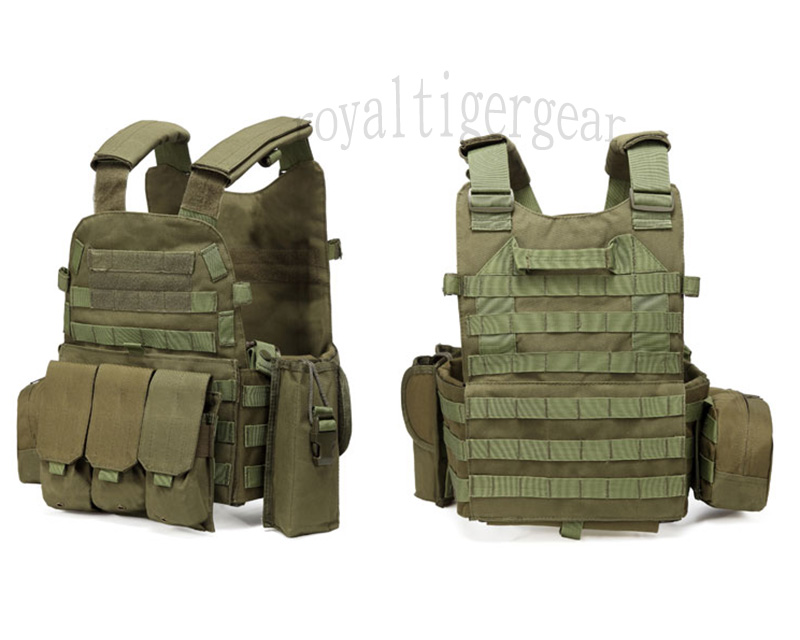 LT6094 Plate Carrier Vest w/ Pouch - OD