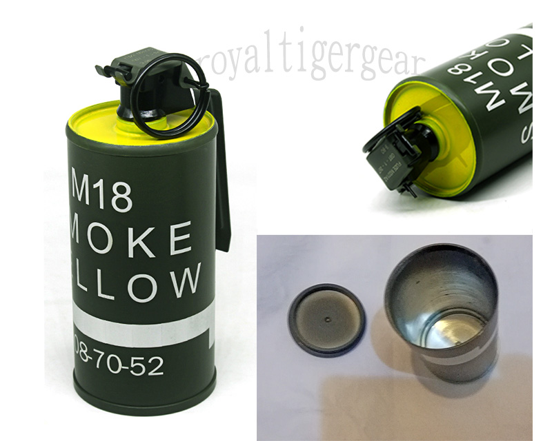 US M18 Dummy Smoke Grenade Container Model - Yellow